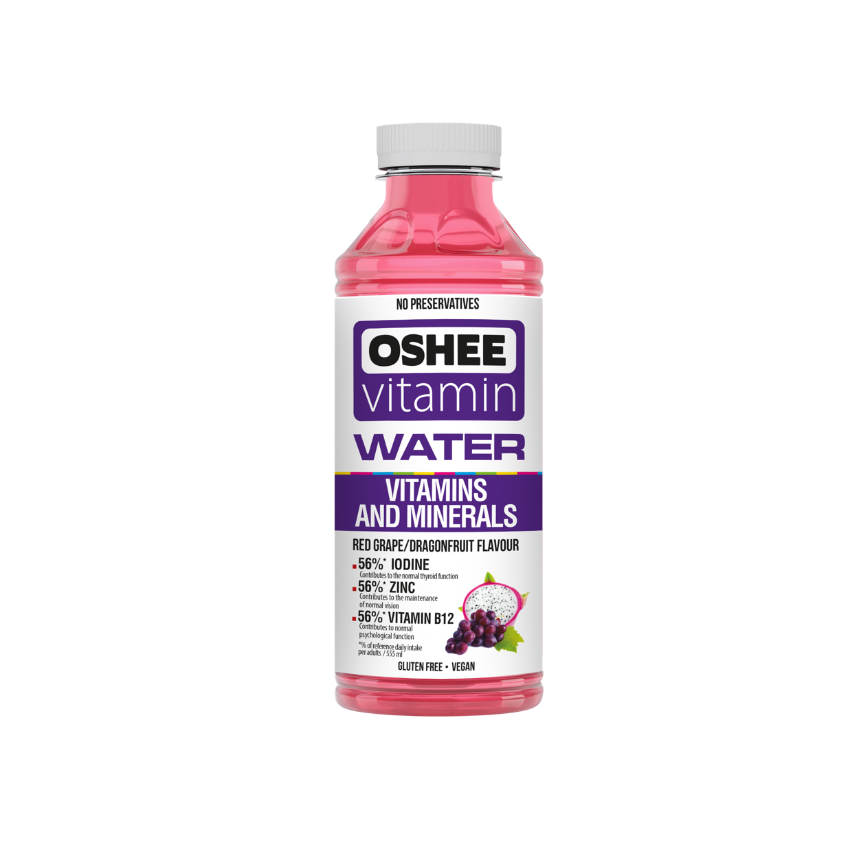 OSHEE vitamin water red grape and dragon fruit